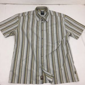 Men's Kuhl Striped Button Front Shirt XL